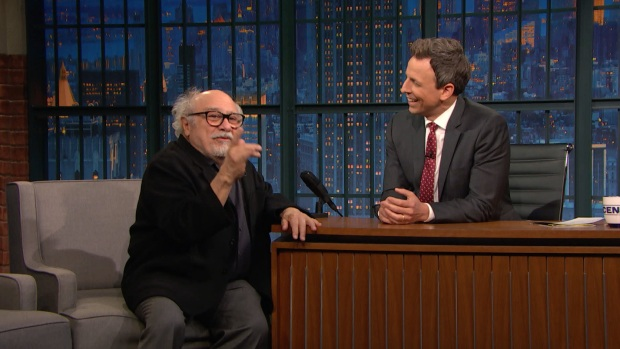 [NATL] 'Late Night': Danny DeVito Spits Egg at Mark Ruffalo