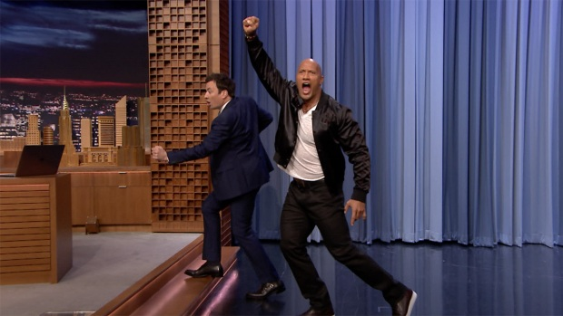 [NATL] 'Tonight': Dwayne 'The Rock' Johnson on Running for President