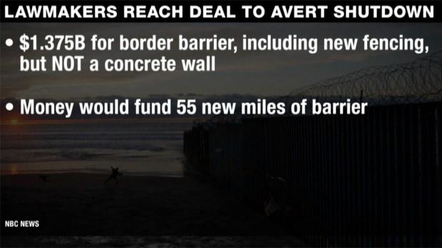 [NATL] Shutdown Deal Offers No Money for Concrete Wall