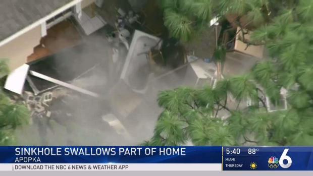 [MI] Sinkhole Swallows Part of Home in Apopka