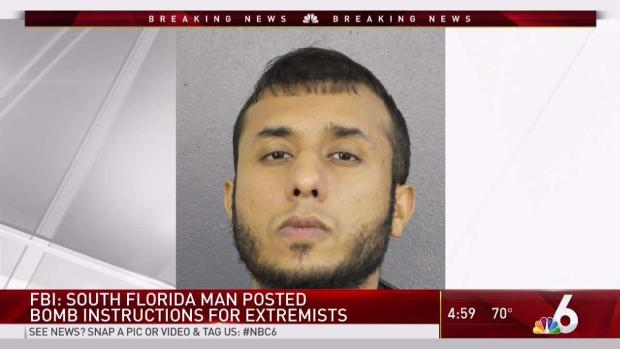 [MI] South Florida Man Posted Bomb Instructions for Extremists: FBI