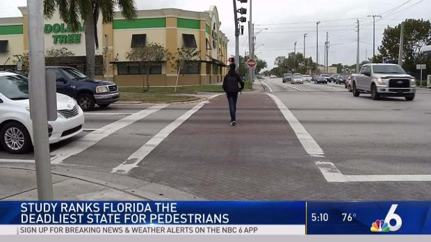 [MI] Study Ranks Florida Deadliest State for Pedestrians