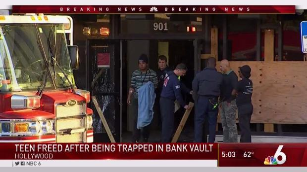[MI] Teen Freed After Being Trapped in Hollywood Bank Vault