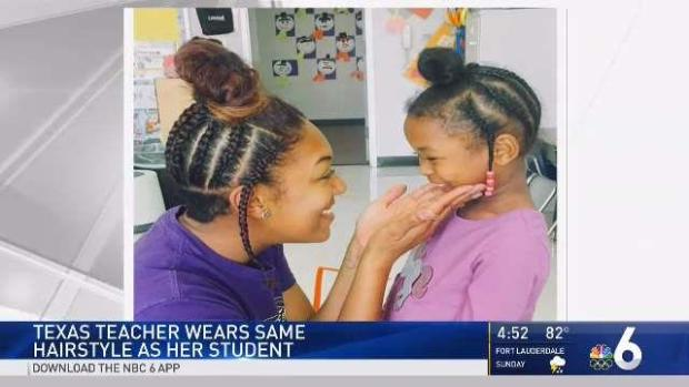 Photo of Teacher With Same Hairdo as Student Goes Viral