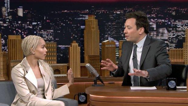 'Tonight Show': Zoë Kravitz Surprises Jimmy