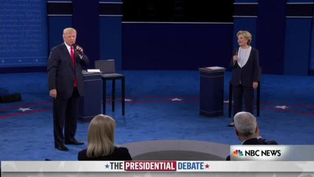 [NATL] Trump Interrupts Clinton on Email Question