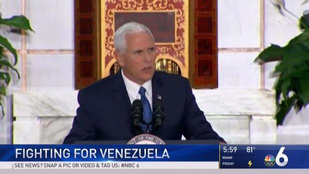 [MI] Vice President Pence Speaks on Venezuelan Issues