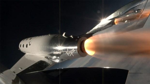 [NATL] Virgin Galactic Spaceship Takes First Powered Flight