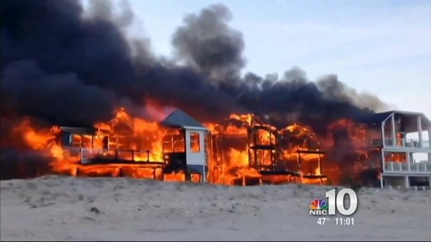 [PHI] Fire Destroys Beachfront Homes in Sea Isle City