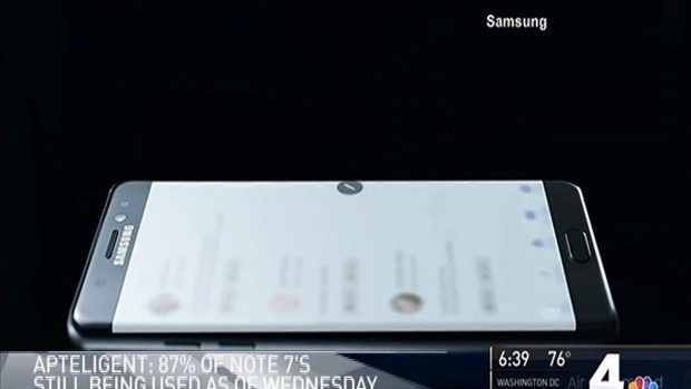 [NATL-DC] Samsung Galaxy Note 7 Users Not Heeding Fire Risk Warning