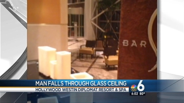 [MI] Man Falls Through Glass Ceiling in Hollywood: Fire Rescue