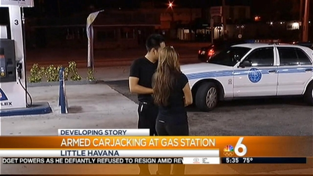 [MI] Couple Carjacked at Gunpoint at Little Havana Gas Station
