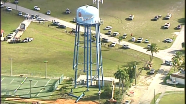 [MI] RAW VIDEO: Hallandale Beach Water Tower Torn Down