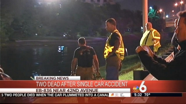 [MI] 2 Killed After Car Crashes Into Canal in Miami-Dade
