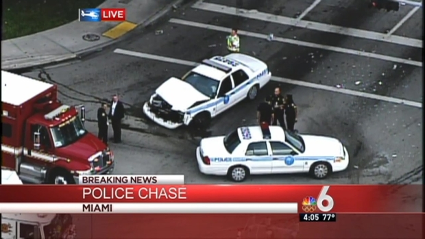 [MI] Officer Injured in Downtown Miami Chase: Authorities
