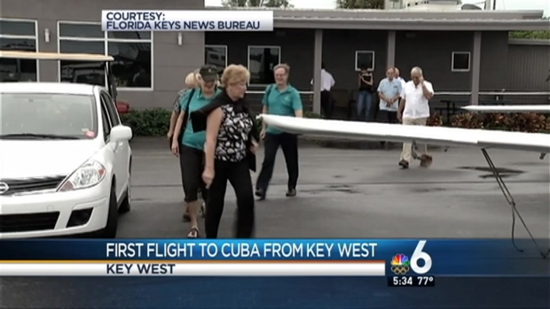 [MI] First Commercial Passenger Flight From Key West to Cuba in More Than 50 Years Lands in Havana