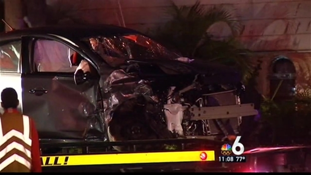 [MI] Four Hospitalized in Violent Crash in Hollywood