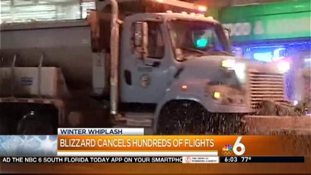 [MI] Dozens of South Florida Flights Affected By Winter Weather
