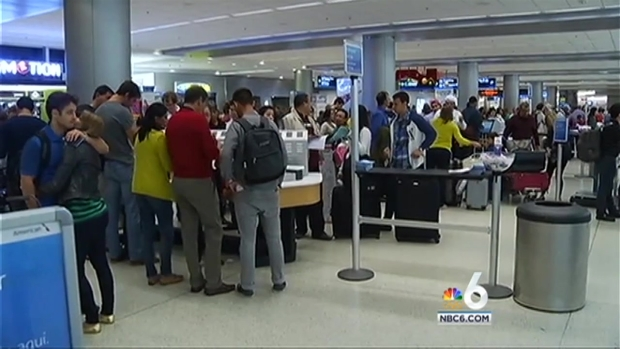 [MI] Scores of Stranded Travelers at Miami International Airport