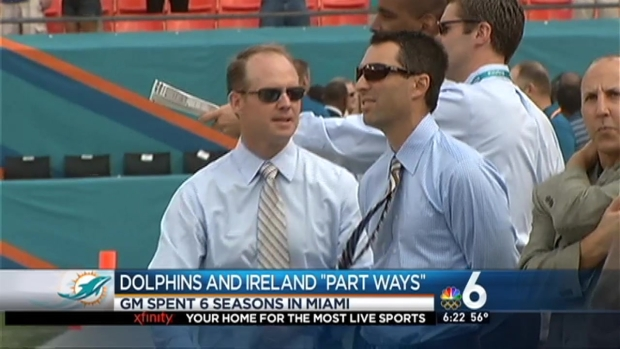 [MI] Ireland, Dolphins Agree to Part Ways