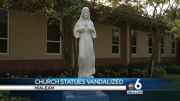 [MI] Hialeah Church Statues Vandalized