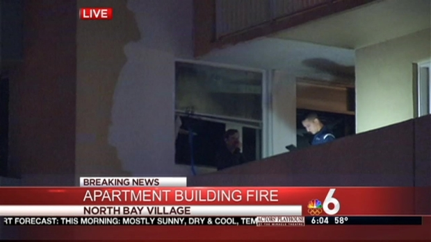 [MI] Residents Evacuated After Fire at North Bay Village Apartment Building