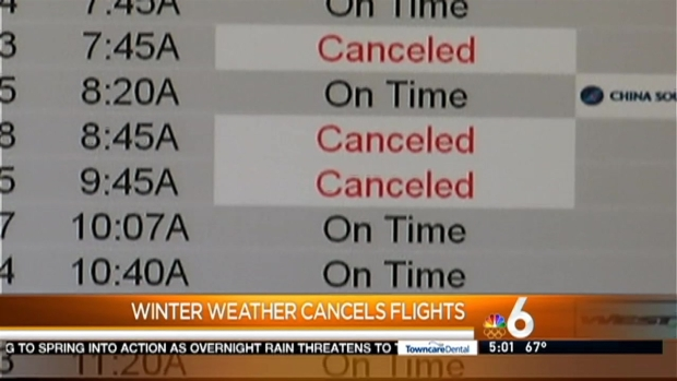 [MI] Several South Florida Flights Canceled By Southeast Storm