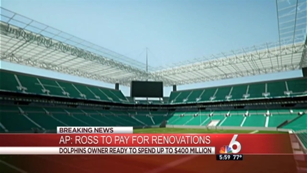 [MI] Miami Dolphins Owner Stephen Ross Will Pay for Stadium Renovations: AP Source