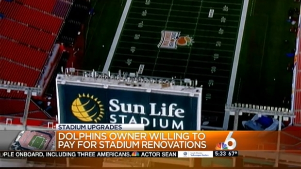 [MI] Miami Dolphins Owner Will Pay for Sun Life Stadium Renovations