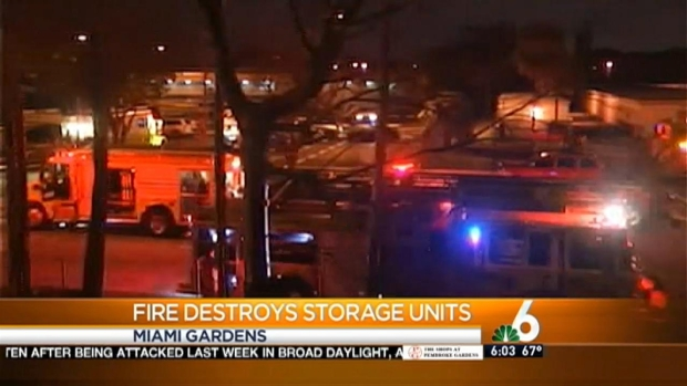 [MI] Massive Miami Gardens Public Storage Fire Investigated