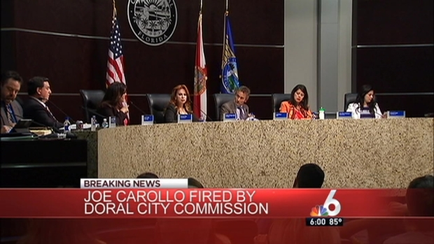 [MI] Doral Fires City Manager Joe Carollo