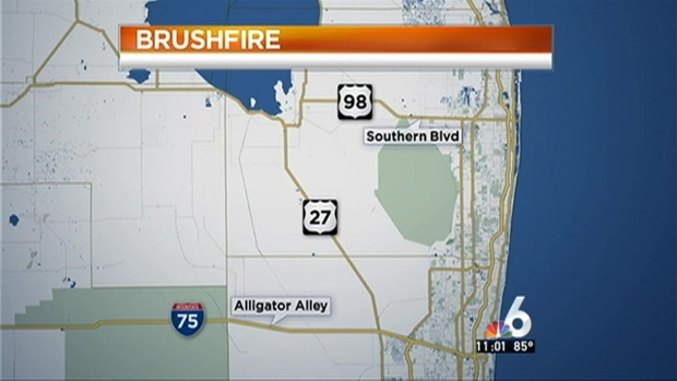 [MI] Heavy Smoke From Brush Fire Blankets South Florida
