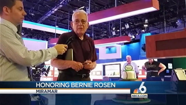 [MI] NBC 6 News at 11 P.M. Honors Broadcasting Icon Bernie Rosen
