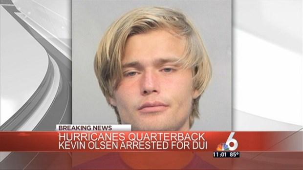 [MI] UM Quarterback Kevin Olsen Arrested