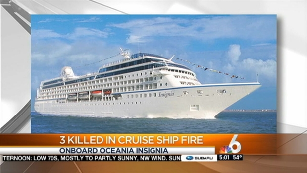 [MI] 3 Die After Fire on Cruise Ship