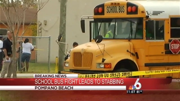 [MI] School Bus Fight Ends With Stabbing in Pompano Beach