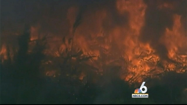 [MI] Stubborn Brush Fire Continues to Burn in Hialeah