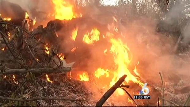 [MI] Crews Battle Hialeah Brush Fire With New Tactic
