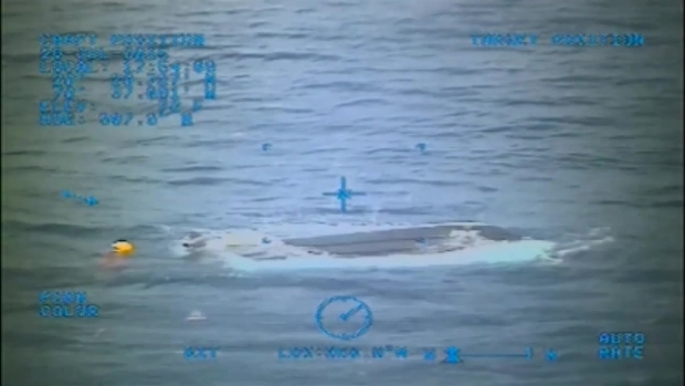 [MI] Raw Video: USCG Footage of Missing Teen's Capsized Boat