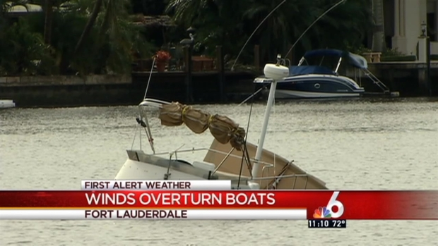 [MI] Severe Weather Overturns Boats in Fort Lauderdale