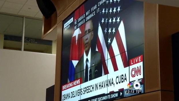 [MI] FIU Students Watch President's Speech to Cuban People
