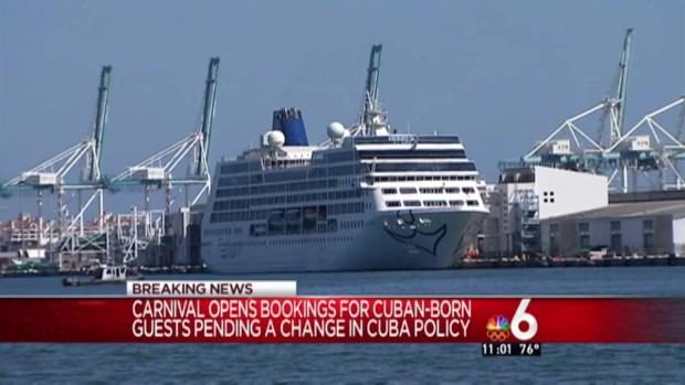 [MI] Carnival May Delay May 1 Cuba Sailing