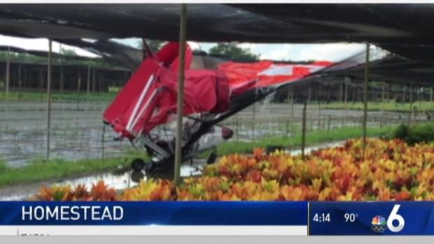 Ultralight Aircraft Crashes Into Homestead Nursery: MDFR
