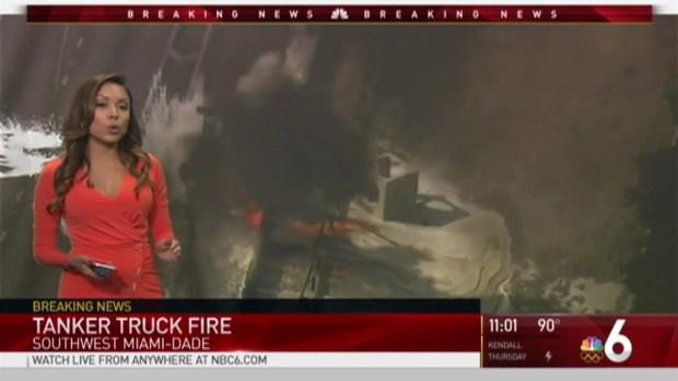 [MI] Truck Fire Shuts Down Turnpike in Southwest Miami-Dade