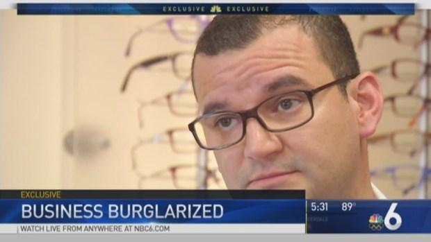 [MI] Caught on Camera: Miramar Optician Burglarized