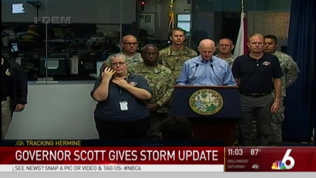 [MI] NBC 6 Team Coverage of Hurricane Hermine - 11AM September 2nd