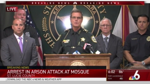 [MI] Man Arrested in Arson Attack at Fort Pierce Mosque: Sheriff's Office