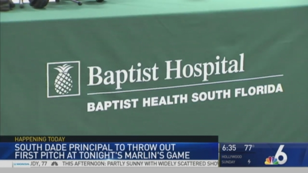 [MI] High School Principal Recovering From Accident Throwing Out First Pitch at Marlins Game