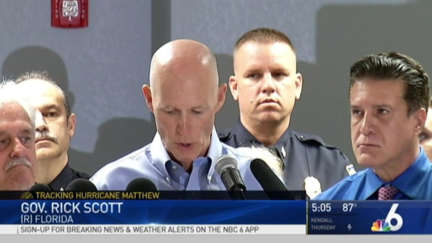 [MI] Florida Gov. Rick Scott Declares State of Emergency Ahead of Hurricane Matthew