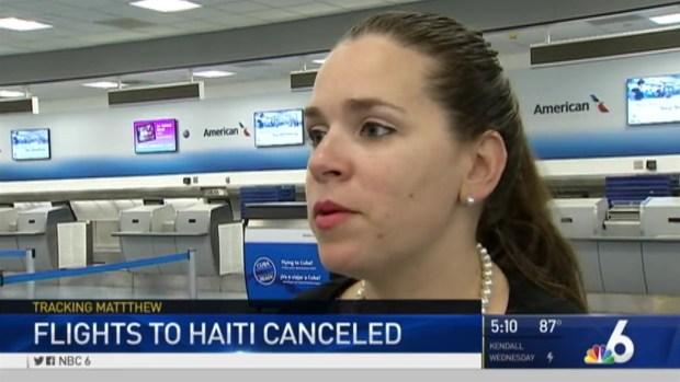 [MI] Flights to Haiti Canceled Ahead of Hurricane Matthew